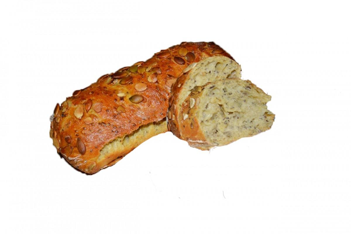 Чиа-хлеб с семенами тыквы и  льна